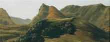 Jean Achille Benouville (attribuito a), Paesaggio montano   Paysage de montagnes   Mountain landscape