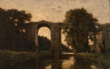 Jean Achille Benouville (attribuito a), Veduta dell'acquedotto di Maintenon | Vue de l'aqueduc de Maintenon