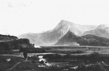 Jean Achille Benouville, Castello di Lugagnan nella valle di Argeles | Château de Lugagnan dans la vallée d'Argelès