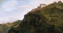Jean Achille Benouville, Cittadina collinare italiana | Ville de colline italienne | Italian hill town