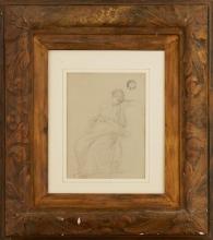 Jean Achille Benouville, Figura classica drappeggiata