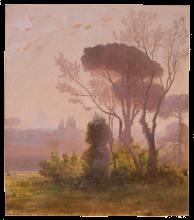 Jean Achille Benouville, Giardino della Villa Medici, Roma | Jardin de la Villa Medici, Rome | Garden of the Villa Medici, Rome
