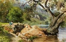 Jean Achille Benouville, Giovane pastore che si riposa sull'argine | Jeune pâtre se reposant sur la berge