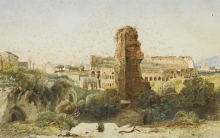 Jean Achille Benouville, Il Colosseo visto dalla Domus Aurea, Roma | Le Colisée vu de la Domus Aurea, Rome