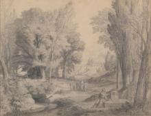 Jean Achille Benouville, Paesaggio classico | Paysage classique | Classical landscape