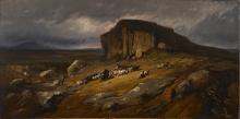 Jean Achille Benouville, Paesaggio con bufali | Paysage avec buffles | Landscape with buffalo