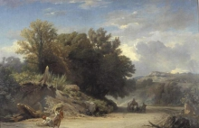 Jean Achille Benouville, Paesaggio dei dintorni di Roma | Paysage des environs de Rome