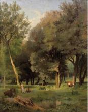 Jean Achille Benouville, Pastori e i loro armenti sulla riva di uno stagno | Pasteurs et leurs troupeaux au bord d'un étang