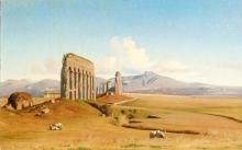 Jean Achille Benouville, Roma, l'acquedotto Claudio | Rome, l'acqueduc de Claude