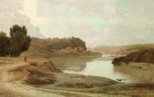 Jean Achille Benouville, Veduta del Tevere | Vue du Tibre | View of the Tiber