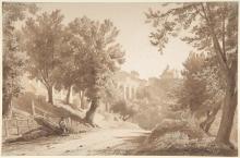 Jean Achille Benouville, Veduta di Ariccia   Vue de Ariccia   View of Ariccia