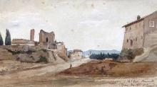 Jean Achille Benouville, Veduta di Roma   Vue de Rome