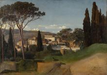 Jean Achille Benouville, Veduta di una villa romana | Vue d'une villa romaine