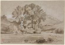 Jean Achille Benouville, Veduta presa a Tivoli | Vue prise à Tivoli | View near Tivoli