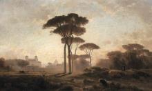 Jean Achille Benouville, Villa Medici, Roma | Villa Médicis, Rome