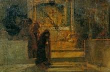 Mosè Bianchi (attribuito a), Alla fine della messa