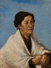 Mosè Bianchi (attribuito a), Donna di Chioggia
