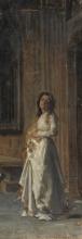 Mosè Bianchi (attribuito a), Figura femminile in una chiesa
