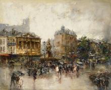 Mosé Bianchi (attribuito a), Place de Clichy a Parigi