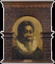 Mosè Bianchi (attribuito a), Ritratto di uomo con gorgiera