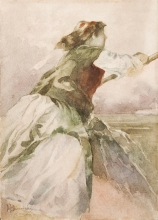 Mosè Bianchi (attribuito a), Studio