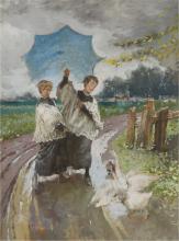 Mosè Bianchi, Bambini e oche