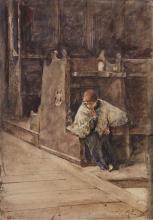Mosè Bianchi, Bambino in chiesa