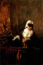 Mosè Bianchi, Carnevale a Venezia (Invito alla danza)