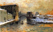 Mosè Bianchi, Chioggia d'inverno