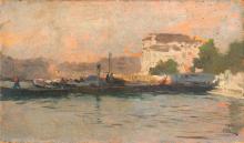 Mosè Bianchi, Chioggia. Studio