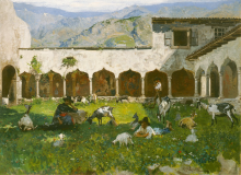 Mosè Bianchi, Chiostro   Cloister