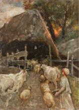 Mosè Bianchi, Contadina che conduce il bestiame