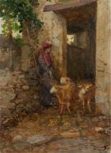 Mosè Bianchi, Contadina che fa uscire le pecore
