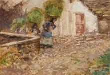 Mosè Bianchi, Contadina che porta una gerla e il suo bambino