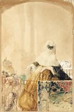 Mosè Bianchi, Dama in maschera