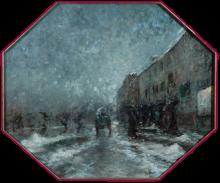 Mosè Bianchi, Donne sotto la neve al Carrobbio