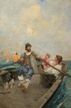 Mosè Bianchi, Famiglia in barca