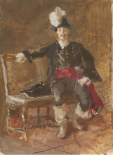 Mosè Bianchi, Figura seduta