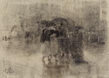 Mosè Bianchi, Figure stotto la pioggia