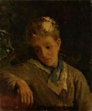 Mosè Bianchi, Giovane donna con il braccio appoggiato