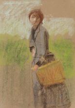 Mosè Bianchi, Giovane donna con il cestino