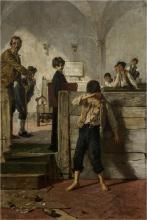 Mosè Bianchi, Il maestro di scuola