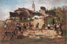 Mosè Bianchi, Il quartiere di San Biagio a Monza