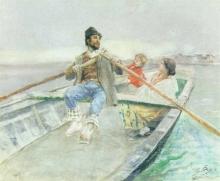 Mosè Bianchi, La famiglia di pescatore