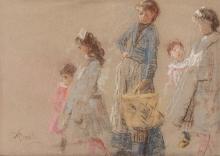 Mosè Bianchi, La passeggiata dei bambini