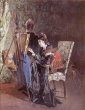 Bianchi Mosè, La pittrice   The painter