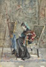Mosè Bianchi, La pittrice