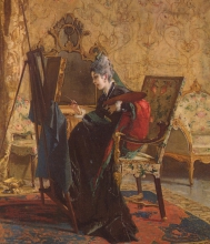 Mosè Bianchi, La pittrice | The painter