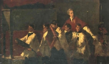 Mosè Bianchi, La processione