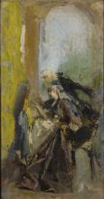 Mosè Bianchi, Lezione di pittura